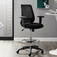 Mark a turning point in productivity with this upright Ergonomic Mesh Office Chair. Let the breathable mesh back, and plush padded seat serves as a simple extension to your everyday work ventures. Two height adjustable armrests assist with upright seat posture, while tilt tension and lock functions grant personized support. Complete with full 360-degree swivel, a sturdy chrome-plated steel foot ring, and an extra tall gas lift cylinder with one-touch height adjustment, this collection comes...