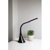 Enlighten your mind and your desk this lamp. This gooseneck lamp has a flexible design that will allow the lamp to go in any direction seamlessly and provides 400 lumens. This product has a detachable cord and a built-in USB charging port for electronics and can be adjusted to 4 levels of brightness and three levels of color temperatures. This lamp will accent any style of décor.