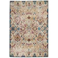 Vibrant colors and tantalizing texture bring an enticing quality to this area rug. A range of ombre colors are broken by deeply distressed, high-low carving in a sleek, low-cut pile, providing a combination of easy care, silky texture, and a vintage vibe sure to bring energy and colorful style to your home.