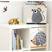 3 Sprouts Storage Cube is the perfect organizational tool for any room. With sides reinforced by cardboard, the storage cube stands at attention at all times. Made to fit almost all cubby hole shelving units, it adds a pop of fun to every room. Whether standing alone or placing a cubby hole, the 3 Sprouts storage box makes organizing easy. The cube folds flat when not in use to make for easy storage.