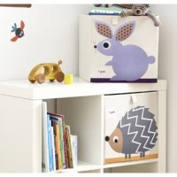 The 3 Sprouts Rabbit Storage Cube is the perfect organizational tool for any child's room. With sides reinforced by cardboard, the Rabbit Storage Cube stands at attention, at all times. Whether standing alone or place in a cubby hole, the 3 Sprouts Rabbit Storage Cube makes organizing easy.