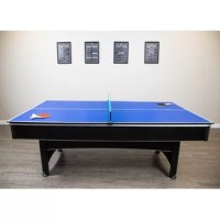 This delivers top-quality billiards with the extra bonus of table tennis - all at this great price! The Maverick Pool Table has a modern style with a sleek black finish and red cloth. If you love to play pool, this table has quality features and the compact 7-foot playing surface fits in many game rooms where a larger table won't. The Maverick Pool Table is great for entertaining across all ages!