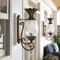 The sweet, succulent lanterns in this collection will keep you in high spirits all year round!  These delicious rippled glass lights feature the pineapple symbol of hospitality and are sure to brighten your doorway as well as the faces of your guests.  The warm copper bronze finish gives this wall-mounted lantern a graceful touch of tradition.