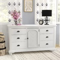 Dressers aren't just for keeping your wardrobe tucked away – they also add style to your master suite, a spot to stage, a display that's all your own, or even work double-time as a vanity when paired with a mirror.