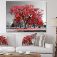 This Landscape 'Big Red Tree on Foggy Day' Photograph is printed using the highest quality fade resistant ink.