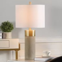 This product provides a soft, delicate touch to any room it is placed in. The light is filtered through a round, hardback shade. The natural concrete will make it blend in seamlessly with any other décor you have in the nearby vicinity.