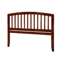 Set a classic foundation in your child's bedroom or refresh your own restful retreat with this arched headboard. Crafted from solid rubberwood, this piece showcases open slats for an approachable and traditional feel. A neutral finish helps this design blend with any color palette you dream up. Some assembly is required before you can mount it to your preferred bed frame (not included). The manufacturer backs this product with a one-year warranty.