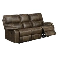 This motion collection offers luxury and style with ultimate comfort and convenience. The rich faux leather is contrasted with luggage stitching creating an eye-catching detail. The well-positioned recline feature and USB outlet blend in nicely, offering modern amenities within a traditional design. You can have comfort without sacrificing style with this collection.