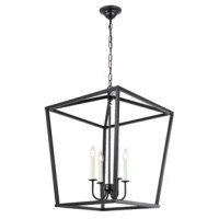 This product will bring you a sense of calm with a return to the simple life. Like a lantern that lights the way for those lost in the dark, this fixture will shine brightly and with a welcoming spirit, eager to greet those in your foyer, living room, or dining room (light bulbs not included).
