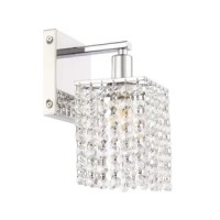 This 1-Light Armed Sconce has sparkling beauty, with its beautiful curtain of clear crystal strands that shimmer with each passing second as light passes through? Not only will your home be illuminated, but your guests will also be charmed and in awe of the dancing crystal lights, and you will be pleased with how this wall lamp can elevate any room into a luxurious and glamorous world (light bulbs not included).