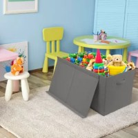 Bring on the toys, books, and smiles. Store your little one's playtime essentials inside this cube or bin. From wrangling household items to collecting unruly toys, camouflage and conceal some of the most common household eyesores. This toy box features built-in carry handles, divided interior, and removable lid closure. It's the perfect way to store anything from stuffed animals to extra blankets and pillows. The dual-compartment interior allows you to separate contents for easy organization...