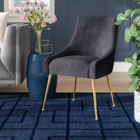 Whether drawn up to a dining table for a stylish meal or rounding out a seating ensemble with an extra perch, a side chair like this is a versatile accent wherever you need it.