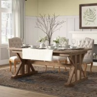 Extendable Pine Solid Wood Dining Table