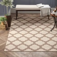 The comfortable accent you want, the durability you need. This indoor/outdoor rug features a two-tone trellis pattern suited to coastal and traditional kitchens and patios alike. Made in Egypt, it's woven from 100% polypropylene, a material well-suited to the elements outdoors and high traffic areas inside. It's also fade resistant, a bonus for spaces that get a lot of suns. Come cleaning time, spot clean with a damp cloth.