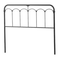 Featuring industrial inspiration and a fresh execution, this panel headboard turns simple metal curves into something romantic. Crafted from metal, it features a slatted, tubular construction, working well in any cottage or French country setting. Curved lines and scalloped detailing offer a touch of understated appeal, while a black speckle finish allows it to blend with a variety of color schemes. Plus, after assembly, is attached to any standard bed frame (not included). Hand-curated by...