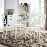 Classic dining set gives a rich amazing finish to enhance all the living area or kitchen area for all occasions. A solid curled ornate pedestal base brings toughness and superior effect to the round dining table. This product could bring the room together as it lures with is glossy design. Just the perfect dimension for big and small dining area. Crafted out of solid wood, this valuable dining room table set is long-lasting and dependable that will last a long time.