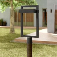 Defined by its open and angular silhouette, this one-light lantern head brings a dash of contemporary style as it shines a light over any outdoor space. Rated for wet locations, this metal fixture features a rectangular body and a square light in a versatile solid finish. An integrated 12 W LED light (included) is stationed toward the top to cast light in an ambient direction. The manufacturer backs this product with a one-year warranty. Post sold separately.