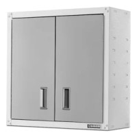 The sleek finish of the Ready-To-Assemble Full-Door Wall GearBox Cabinet makes this cabinet ideal for the garage or other areas of the home like the laundry room or basement. Included brackets allow you to position this storage cabinet on Gladiator® wall systems wherever you need it most.