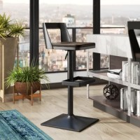 Whether pulled up to a pub table or added to a kitchen island, bar stools like this are a great option for rounding out your entertainment ensemble in on-trend style. This stool, for example, features mixed-material metal and bamboo construction, and sleek lines for a piece at the intersection of mid-century and industrial styles. With a pneumatic lift and 360° swivel seat, this piece can be adjusted between counter height and bar height, allowing you to maximize your space.
