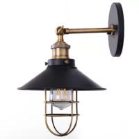 This product design with a contemporary farmhouse look. The striking finish, combined with the open metal framework and a vintage metal shade results in a stylish wall-mounted light fixture that coordinates beautifully with a wide range of home decor styles.