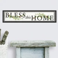 Update a space with Bless This Home Country Quote Peel and Stick Wall Decals. Simply peel and stick to any smooth, flat surface for instant results. Remove, reposition and reuse as often as needed. No sticky residue is left behind. Walls stay clean every time. Add personality to your walls today with this decals.