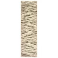 This area rug is highlighted by a simple design aesthetic with matte pigmented colors in an organic layered pattern blended for a livable look. Machine-woven of polypropylene, this rug boasts a soft, textured yarn in a high-pile for a plush feel underfoot.