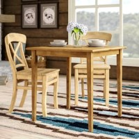 No matter the meal, you'll be dining in style with this table sitting at the center of your eating ensemble. It is crafted of beech wood for classic construction, founded atop four gently tapered legs and featuring a 29.5