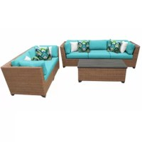Whether you're prepping for a pool party or just hosting neighbors who stopped by for an impromptu happy hour, your patio should always be ready to entertain. Give guests a spot to gather around out back with this six-piece sectional seating group. Designed to live outdoors, it is constructed from weather-resistant materials – namely a clean-lined aluminum frame wrapped in resin wicker with yarn-dyed acrylic cushions – so there's no worries when it comes to UV rays and rainstorms. This set...