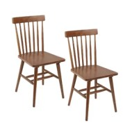 Add an element of mid-century flair to your dining room or breakfast nook with these Alidade Mid-Century Modern Dining Chair. Clean lines and tapered legs add mid-century modern sophistication to your room. The wood finish adds natural warmth to your home's design and compliments an array of schemes. These sturdy slat back chairs are constructed of rubberwood and MDF.