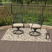 Set the mood with comfortable Reed Outdoor Swivel Patio Chair with Cushions for your outside space. Unique basket weave design look will enhance your outdoor living space. Perfectly match with any indoor room, yard, garden or your balcony. 360-Degree swivel seats for extra comfort.