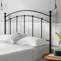 The master suite in need of an update? Headboards are an easy solution for your ensemble, creating a fashionable focal point that elevates your bedscape. Take this one for example: founded atop two legs, it's designed to attach right onto your existing bed frame. Featuring an open and airy design, this contemporary piece is crafted from powder-coated carbon steel, in a matte black finish. A 10-year limited warranty is included with this piece. Partial assembly is required upon arrival.