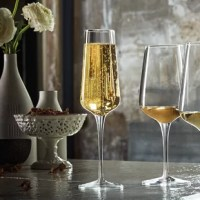 These flutes are Ideal for an elegant and distinguished table setting, a range of stemware with high sensorial perception reducing the wine flaws. The range has been developed applying scientific methods: shapes and dimensions guarantee the pleasantness of wine reducing to a minimum the wine flaws if present. Tested by master Sommeliers, their sensory performances have been confirmed. The aromatic chamber (headspace) has been developed to enhance only the specific aromas of the grape, aromas...