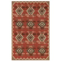 Add personality to any room in the home with this Tayler Red Indoor/Outdoor Area Rug. It adds a sense of completeness to a space and a hint of tribal flair. The harmonious earthy hues and eclectic look of the rug work well with any style of décor. Woven of 100% polypropylene, this vibrant, weather-resistant rug is low-profile and durable yet feature a subtle pile creating a unique floor covering which is both versatile and soft underfoot. The low-profile nature of this product offers a casual...