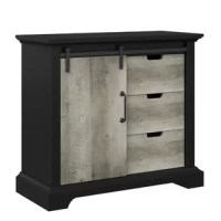 Acting as a nightstand, a storage space, or both, accent chests are a great addition to any home decor. Take this one for example: Crafted from manufactured wood, this piece features three drawers, ideal for tucking away loose odds and ends, while a sliding door opens to reveal even more storage space. Crown molding offers a traditional touch, while a neutral two-toned finish allows it to blend effortlessly with your color scheme.