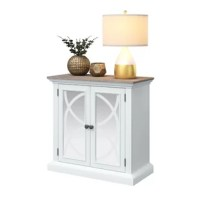 Coastal cottage finishes mix with elegant, mirrored doors to create a Vicksburg Accent Cabinet that is meant to be seen while keeping your storage hidden. Use this piece to store throw blankets and other items to help keep cozy in your living room or put items like extra wine glasses, dinnerware, or games inside for when it's time to entertain. No matter where the additional storage is needed, this is the accent cabinet to enhance both the function and look of your space.