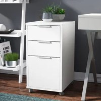 This Castelli 3-Drawer Vertical Filing Cabinet is a perfect fit for any office, with 1 drawer for hanging files and 2 drawers for all your office supplies. It is a great addition to any room that needs a little extra storage. This item comes on casters (wheels), so mobility is never an issue with this file cabinet.