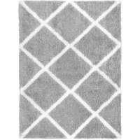 Modernize any room with the Carmela Jayna rug collection by Home Dynamix. This modern rug collection offers a diagonal grid design in neutral hues that will refresh any room.  Machine woven polyester fibers with the high-low pile that provides a plush surface underneath your feet. The short and twisted fibers minimize the effects of dirt and stains, making it ideal for high traffic areas. Durable polycotton backing for long-lasting use. Shake, vacuum and spot clean as needed to upkeep its...