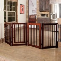 Restrict the movement of your pets with the 360 Series Configurable Pet Gate from Primetime Petz. Constructed from premium-quality wood, this pet gate is sturdy and long-lasting. The luxurious walnut finish of this pet gate effortlessly merges with any home decor. The non-toxic properties of this pet gate make it safe for you and your family. This lightweight pet gate can easily be moved from one place to another. It is equipped with locks that can be used to confine your pet's movements as and...