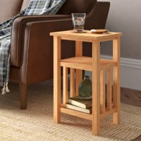 This end table will suit any decor and will be an excellent choice for your living room, dining room, or bedroom. This side table has been expertly crafted from durable, solid oak and is very functional.