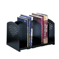 Sturdy steel is a smart solution! All steel organizing accessories are extra sturdy and useful. The Five Section Adjustable Steel Bookrack is easily customized to change compartment sizes to hold books, manuals or directories. Simply slide the dividers into the desired position for an instant bookrack! Includes four adjustable/removable dividers to form up to five sections. Attractive contemporary design elements keep your office snazzy.