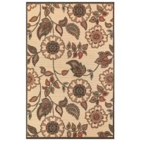 This Deck Floral Vine Cream Indoor/Outdoor Area Rug is an easy-care, casual lifestyle rug featuring an over-sized floral pattern in beautifully blended colors that will enhance any decor. Woven of 100% polypropylene, this vibrant, weather-resistant rug is low-profile and durable yet feature a subtle pile creating a unique floor covering which is both versatile and soft underfoot. The low-profile nature of this product offers a casual lifestyle look with the versatility to use nearly anywhere...