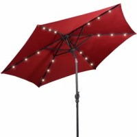 This Exmouth 9' Market Umbrella is a sun tent, rain shelter, and more all in one, the parasol gives you instant portable protection from the elements regardless of your activity. It blocks the sun's rays throughout the day and lights up the night with its pre-installed solar-powered LEDs. Add a new partner to make you a happy journey, just take it home.