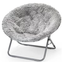 Perfect for lending your teens room a traditional touch, a Papasan chair like this is a great option for curling up with a good book or settling in for a movie marathon. Crafted from a metal frame, this piece features a circular silhouette crafted from faux fur polyester for a shaggy touch perfect for a cozy touch. Ideal for space-conscious rooms, this lightweight piece features a foldable design, making it easy to move and store.