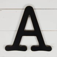 Personalize the entryway with your family name initial or make your workspace all your own with this wall decor. Made in the USA, it is crafted from manufactured wood with a neutral painted finish so it can fit right into any ensemble. This design's weight and dimensions are dependent on the letter choice, but each measure about one-foot square and weighs around a half pound for easy hanging. Hardware is not included. This item is easy to hang with command strips.