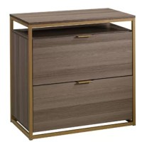 Create versatile storage options in your home without having to sacrifice the beautiful style you love with this Haight 2-Drawer Lateral Filing Cabinet. It features two large drawers with full extension slides that accommodate letter-size hanging files so you can keep all your important documents organized. Its interlocking safety mechanism allows only one drawer to open at a time for added safety. It also features an open storage shelf above the top drawer for easy access storage of items like...