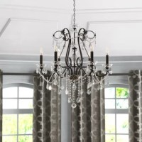 Thao 6 - Light Candle Style Classic / Traditional Chandelier with Crystal Accent