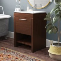 This collection proves that simplicity mustn't constitute staleness. To the contrary: It delivers a modern, no-frills look that highlights function. For added convenience, the vanity is designed with an open shelf on the bottom that can be used for open display storage and for quick access to frequently used items. All natural feel. All vanity color options come standard with a slim grade AAA vitreous china sink and brushed aluminum hardware.