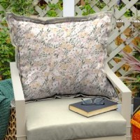 Designed by Detroit artist Brooke Hitchcock, this is a flowing, free-spirited print of painted foliage and wildflowers. This Tana Floral Indoor/Outdoor Throw Pillow is durable, and weather-resistant polyester fabric ensures vibrant colors through the season and offers easy cleaning with just soap and water. Inside this outdoor cushion is patented 100% polyester fiberfill oriented in a vertical position. This outdoor cushion is UV treated and is intended for use on your patio or deck. However...
