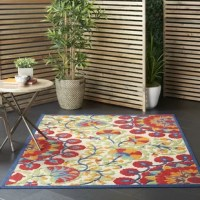 Perfect for adding an eye-catching touch to your space and softening hardwood or tiles, this area rug is a welcoming accent throughout your home. Power-loomed in Turkey from polypropylene, this piece features a water- and fade-resistant design that makes it perfect for use in both indoor and outdoor spaces. Plus, it's high-low pile adds a textured touch to any room. Thanks to its floral motif, it's perfect for a classic feel on your floors. We recommend adding a rug pad to help keep this piece...