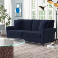 Classic and comfortable, this Sofa combines rolled arms with bold color options for a fresh focal point in your living room. A crisp welt highlights the clean-lined silhouette, and tapered legs add modern flair. Easy assembly takes less than two minutes with no tools required, so you can sit in style sooner.